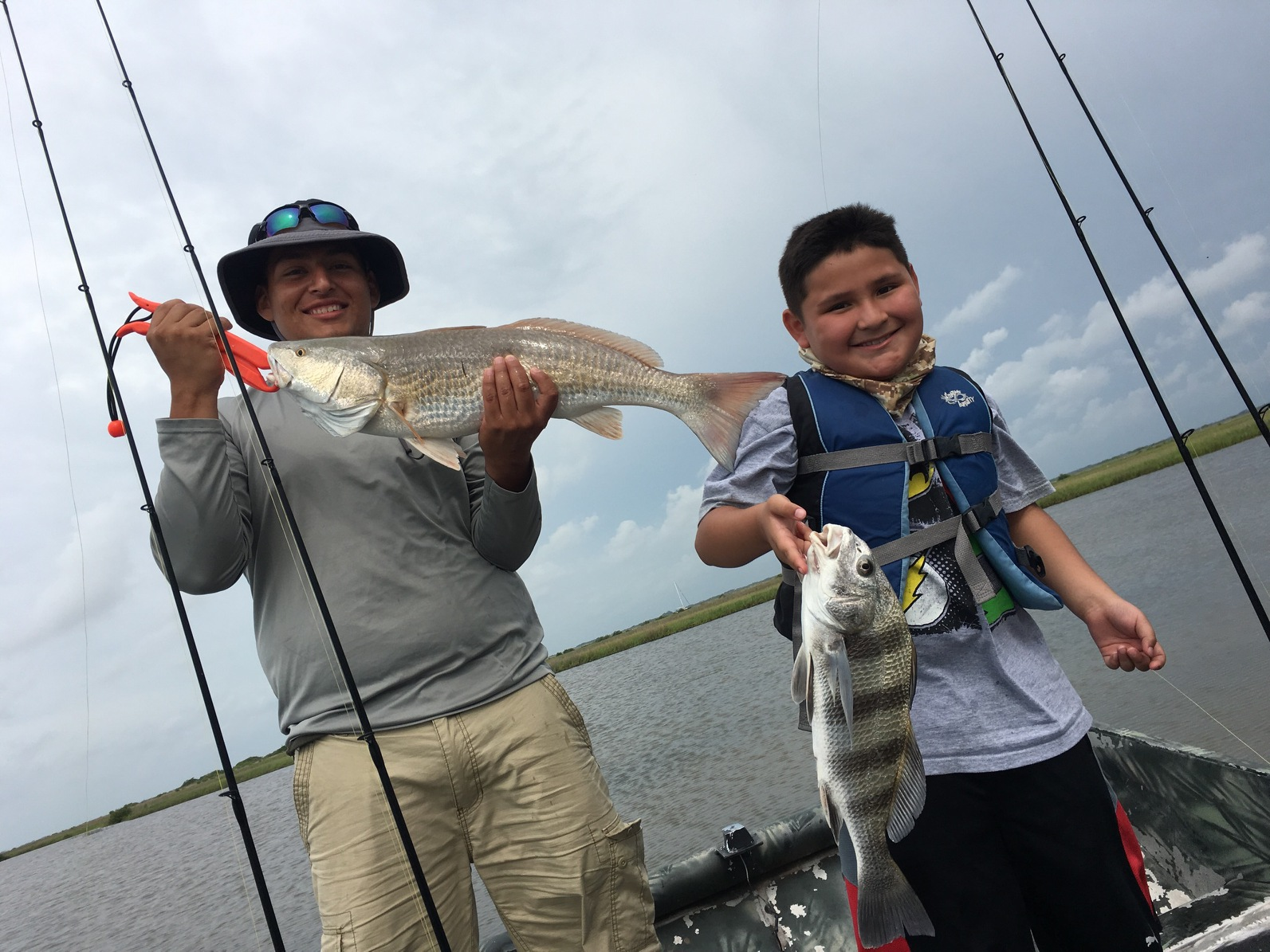 nice double, fishing guide in rockport texas